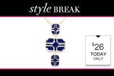 #STYLE #BREAK! Get the #Natalie #Necklace for $26. #Today Only!