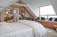 Fabulous Tricks Can Change Your Life: Attic Conversion Beams attic bedroom bohemian.Attic Remodel Storage attic house tiny homes. Loft Room, Bedroom Loft, Dream Bedroom, Home Bedroom, Master Bedroom, Bedrooms, Light Bedroom, Bedroom Rustic, Large Bedroom
