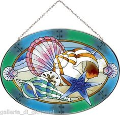 Ocean Shells SUNCATCHER Stained Glass Seashell Nautical Sea Shell | eBay