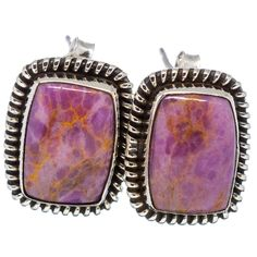 "Phosphosiderite 925 Sterling Silver Earrings 3/4"" EARR330900"