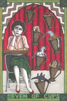 Twin Peaks Tarot Audrey Horne postcard PRINT by MaiafirePrints, £1.89