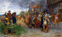 French soldiers pillaging a village, Thirty Years War