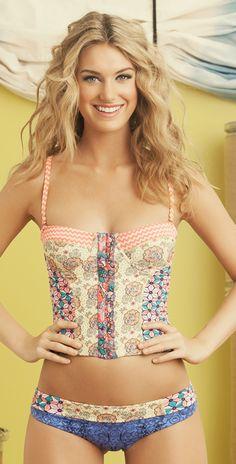 Maaji 2014 Mystic Paths Bralette Bikini dont like the super short bottoms tho