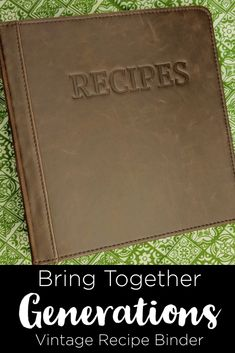 Pass on the family recipes with this adorable vintage style recipe binder!