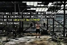 What appears to be a sacrifice today will be greatest investment