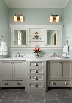 Simple, clean, and symmetrical St. Paul bathroom. - Houzz.com