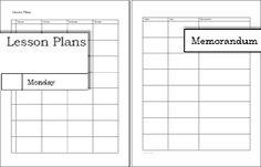 Free printable lesson plans
