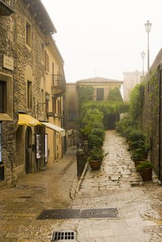 Rainy in San Marino, Italy *