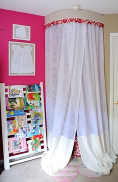 DIY: 3 in 1 Kids Play Tent.  Great for a kids room or play room!  Easy to create.  Tutorial by Jenna Burger Design www.jennaburger.com