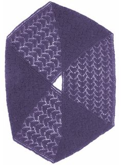 Knit Mobius Scarf Pattern. The pattern is reversible!