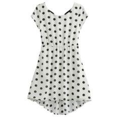My Michelle Polka-Dot Hi-Low Dress - Girls 7-16