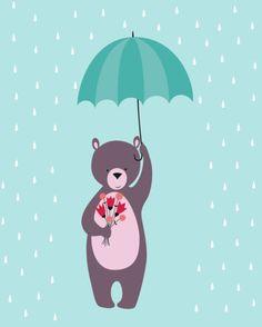 Alice De Page - Bear With Umbrella