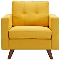 Lowest price online on Nye Koncept Papaya Yellow Uma Armchair Yellow Armchair, Retro Armchair, Queen Of Love, Take A Seat, Love Seat, Living Room Chairs, Dining Chairs, Furniture Chairs, Walnut Furniture