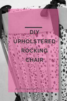 A step-by-step custom DIY Upholstered Rocking Chair tutorial that only cost $100. The DIY fabric looks just like the Brunschwig & Fils version. A great look-for-less and budget-friendly option! Save money on your nursery! Repin and read more about other great inexpensive home decor DIYs at All Things Big And Small Blog!