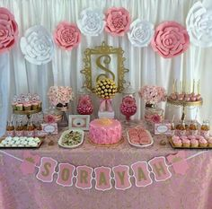 Pink and gold baby shower baby shower party ideas photo 2 of 7 catch my par Baby Shower Table Set Up, Baby Shower Table Centerpieces, Baby Shower Cakes, Shower Party, Baby Shower Parties, Baby Shower Themes, Shower Ideas, Royalty Baby Shower, Baby Shower Princess