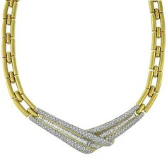 Estate_12.00ct_Round_&_Baguette_Cut_Diamond_18k_Yellow_Gold_Necklace | New York Estate Jewelry | Israel Rose