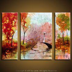 """My Fair Lady"" - Original Landscape Art by Lena Karpinsky, http://www.artbylena.com/original-painting/33/my-fair-lady.html"