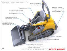 jon pope designs | LOADER-BOT on Industrial Design Served