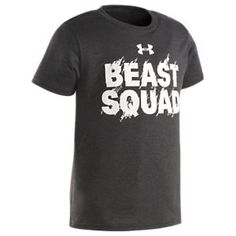 01a0716926 Under Armour Beast Squad T-Shirt for Boys - Asphalt - 7 Tee Design
