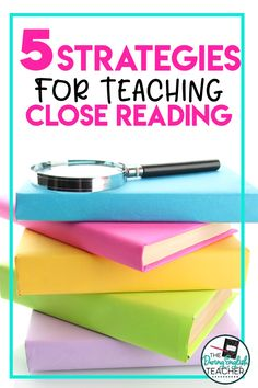 Teach your middle school ELA and high school English students all about close reading with these five close reading teaching strategies. Your secondary ELA students will gain a stronger understanding of close reading and annotating with these five close reading teaching strategies. #secondaryELA #middleschoolELA #highschoolELA #closereading Close Reading Strategies, Teaching Strategies, Middle School Reading, English Teachers, English Classroom, Ela Classroom, Future Classroom, Workshop Ideas, Writing Workshop