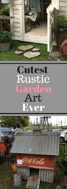 Cutest Rustic Garden Art Ever - Plenty of Photos! (scheduled via http://www.tailwindapp.com?utm_source=pinterest&utm_medium=twpin&utm_content=post183654813&utm_campaign=scheduler_attribution)