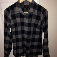 Jcrew perfect fit shirt Blue and gray flannel shirt in perfect condition. J. Crew Tops