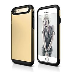 iPhone 6S Case, Dimaka Ultra Protective Hybrid 2 in 1 Case [Drop Proof] [Heavy Duty][Raised Lip][Dual Layers] Matt Surface PC + TPU Bumper for iPhone 6 / 6S (Champagne) Dimaka http://www.amazon.com/dp/B01955EM9K/ref=cm_sw_r_pi_dp_dHLIwb04BPAFG