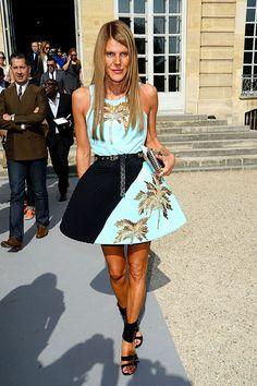 Anna Dello Russo en el desfile de Dior primavera-verano 2014