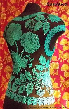 Irish Crochet Tutorial, Irish Crochet Patterns, Lace Patterns, Crochet Designs, Crochet Flowers, Crochet Lace, Russian Crochet, Freeform Crochet, Crochet Dresses
