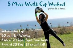 Gotta try this 5-Move World Cup Workout! You can even do it at home with the kids.