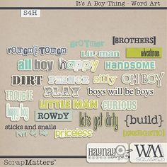 It's a Boy Thing Word Art by Haynay Designs and WM[Squared] Designs