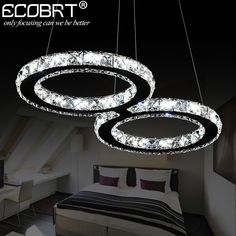 ECOBRT LED Crystal Pendant Lights 24W Creative Restaurant Cord Pendant Lighting Fixture Modern Style Cool White 110-240V AC. Yesterday's price: US $298.00 (245.34 EUR). Today's price: US $113.24 (93.23 EUR). Discount: 62%.