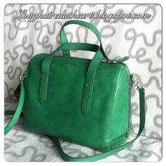 Purses handbags purse handbag tasche crossbody bowling bag satchel sydney satchel fossil teal emerald green grün smaragd jewel tones bright colors colorful strap leather  2013 2014 winter fall unique classy vintage keyper lilac purple violet quilt fabric top handle Fossil Handbags, Bowling Bags, Teal, Purple, Jewel Tones, Emerald Green, Purses And Handbags, Frocks, Bright Colors