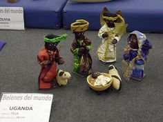 Nativity set from Uganda - from travelocafe:  Nativity Scenes From Around The World