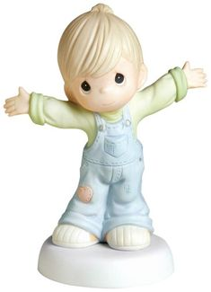 "Precious Moments ""I Love You This Much"" Figurine, Boy - http://www.preciousmomentsfigurines.org/precious-moments/precious-moments-i-love-you-this-much-figurine-boy-2/"