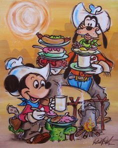 Mickey Mouse and Goofy