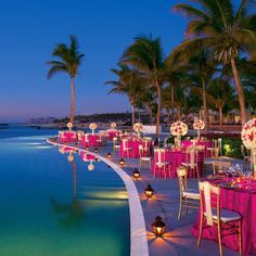 pool and seaside reception