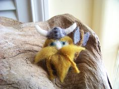 Needle Felted Viking by peachesproducts on Etsy