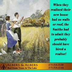 Always a good idea.....  #lakeoftheozarks #albersandalbers #realestate Real Estate Humor