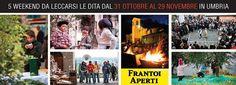 """Ottobre in Umbria significa Frantoi Aperti! Tra passeggiate, laboratori e degustazioni, cuore dell'evento sarà il frantoio, dove vivere l'esperienza della spremitura a stretto contatto con i produttori. """"Tutta l'Umbria più Umbria che c'è!"""" http://www.stradadeivinidelcantico.com/2015/10/20/frantoi-aperti-umbria/"""