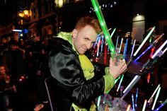 """Simon Wegrzyn, who plays villain Fleshcreep in this year's pantomime Jack and the Beanstalk, made crowds boo and hiss at the Old Town Light Switch On. Swindon Advertiser said that """"hundreds of people packed into Wood Street"""" for the annual event, which took place on Thursday 28 November. #Fleshcreep #Pantomime #Villain #Swindon #Wiltshire #Theatre"""