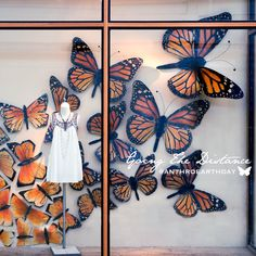 "ANTHROPOLOGIE, New York, USA, ""Happy Earth Day!... Going The Distance"", (Shedding light on the plight of the Monarch butterfly), pinned by Ton van der Veer"