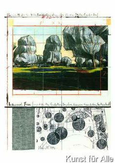 Christo und Jeanne-Claude - Wrapped Trees Nr. IV