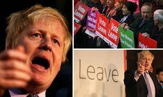 """WATCH: Roaring Boris BURIES pro-EU camp and sets out vision for 'glorious' British future BORIS Johnson tonight buried the dreary and passionless doom-mongering of the pro-Brussels camp as he countered their endless negativity with a soaring vision for Britain's """"glorious"""" free future. By NICK GUTTERIDGE 00:01, Sat, Apr 16, 2016"""