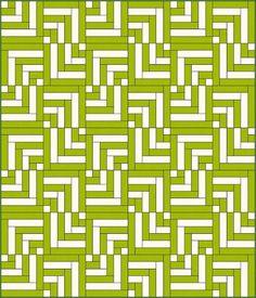 Driftwood - Free Quilt Patterns - Yardage - Modern - Log Cabin Style - Kona Cotton Pea Pod