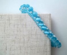 Light Blue Cubic Right Angle Bracelet With by RachelNicoleDesigns, $24.00