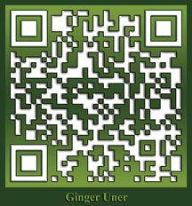 One of my favorite customized QR codes, created for Ginger Uner's Beyond Organic website