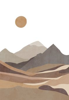 Buy 2 prints and get 2 more for FREE! Minimalist Wallpaper, Minimalist Art, Minimalist Pattern, Posca Art, Mountain Drawing, Nature Posters, Simple Art, Aesthetic Art, Painting Inspiration