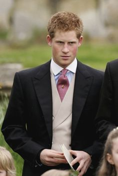 Prince Harry leaves the wedding of Laura Parker Bowles to Harry Lopes on May 6, 2006, in Wiltshire, England........ PERFECTION