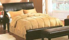 Dark Brown Bed Headboard in Queen Size